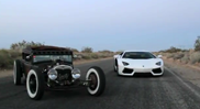 Movie: Rat Rod vs Lamborghini Aventador LP700-4