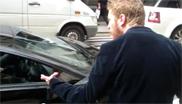 Guy goes crazy at revving Lamborghini