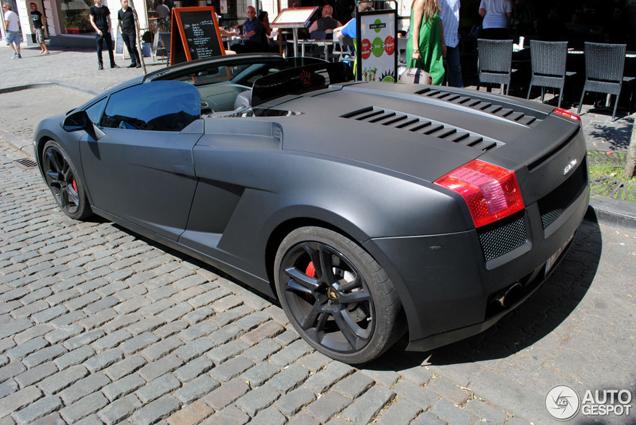 2008 Lamborghini Gallardo Spyder Lamborghini Gallardo Spyder Black