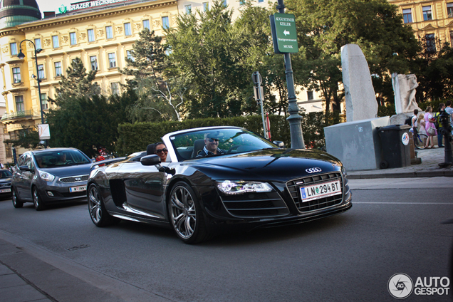Hard to spot: de Audi R8 GT Spyder