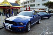 Past and present spotted together: Ford Mustang Shelby