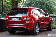Brutal red car spotted: Jeep Grand Cherokee SRT-8 2012