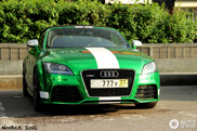 Beautiful green chrome Audi TT-RS Roadster spotted!