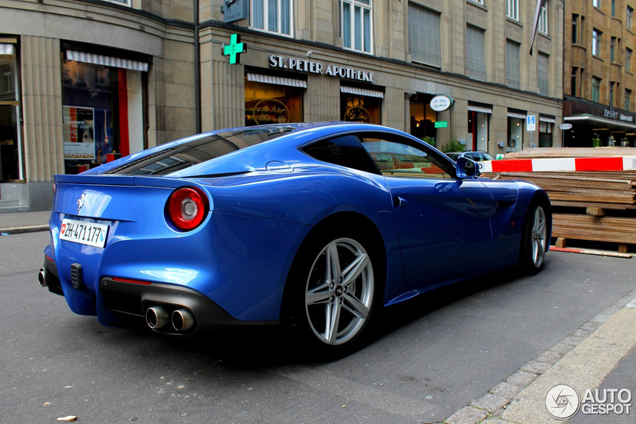 Colour Blu Mirabeau Looks Very Good On The Ferrari F12berlinetta