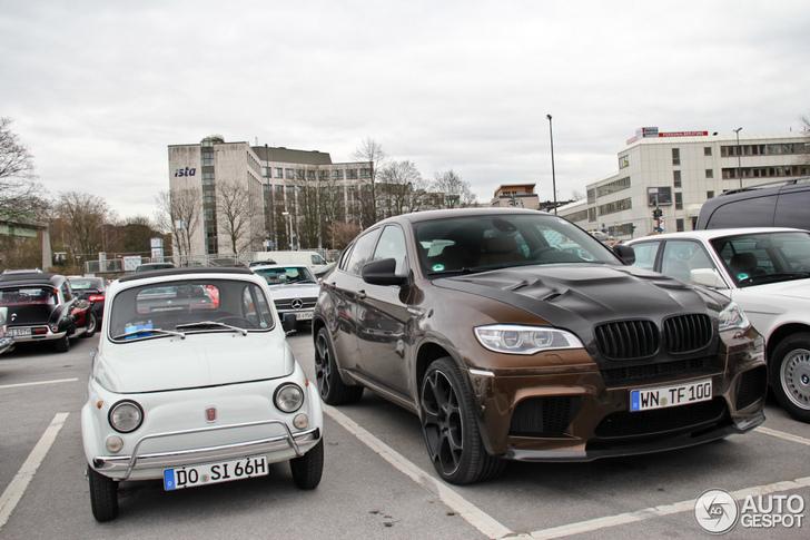 Mug versus olifant: Fiat 500 versus BMW X6 M!
