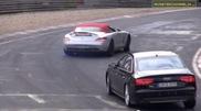 Pilotii de teste distrandu-se pe Nürburgring