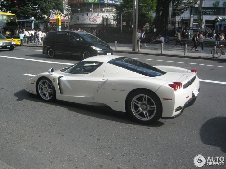 spotted unique white ferrari enzo ferrari - Ferrari Enzo 2013 White