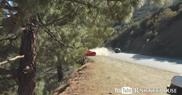 Filmpje: Ferrari 360 Modena schiet van de weg naar beneden