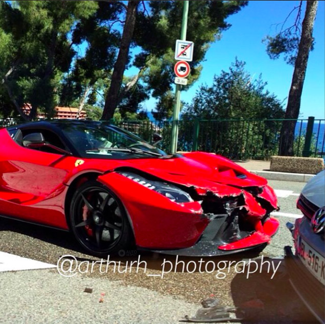 Eerste LaFerrari crash is een feit in Monaco