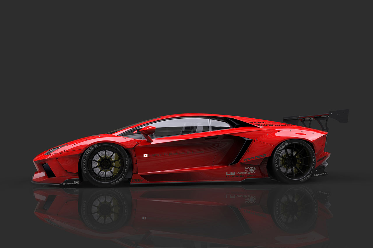liberty walk is going to build a widebody lamborghini aventador. Black Bedroom Furniture Sets. Home Design Ideas
