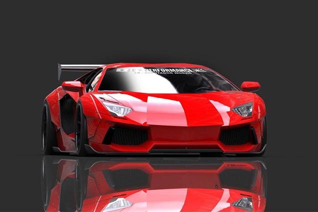 Liberty Walk Gaat Voor Widebody Lamborghini Aventador ...