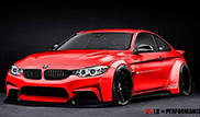 Liberty Walk is working on a wider BMW 4-Series Coupé