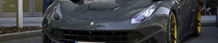 Ferrari F12 N-Largo looks very brutal in grey