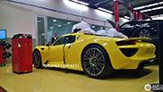 Racing Yellow coloured Porsche 918 Spyder in Brazil
