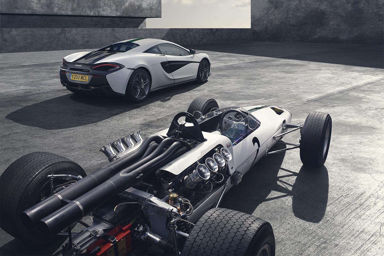 McLaren 570S M2B, ter ere van 50 jaar McLaren Formule 1