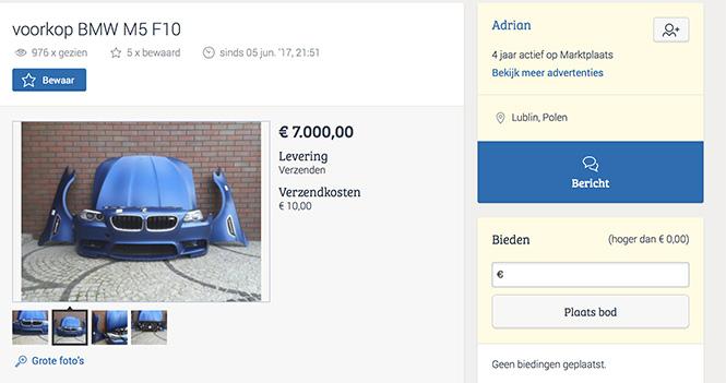 Zijn dit onderdelen van een BMW M5 F10 die we kennen?