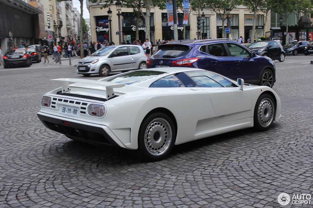 Almost perfect: Bugatti EB110 GT in Paris, France