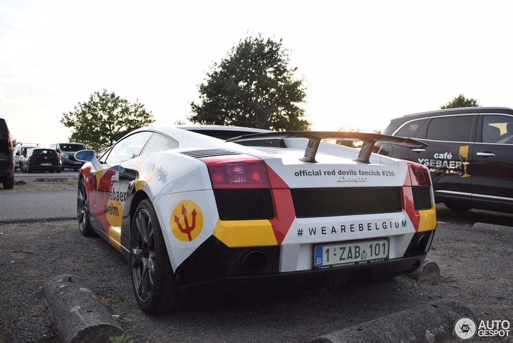 Deze Lamborghini steunt de rode duivels