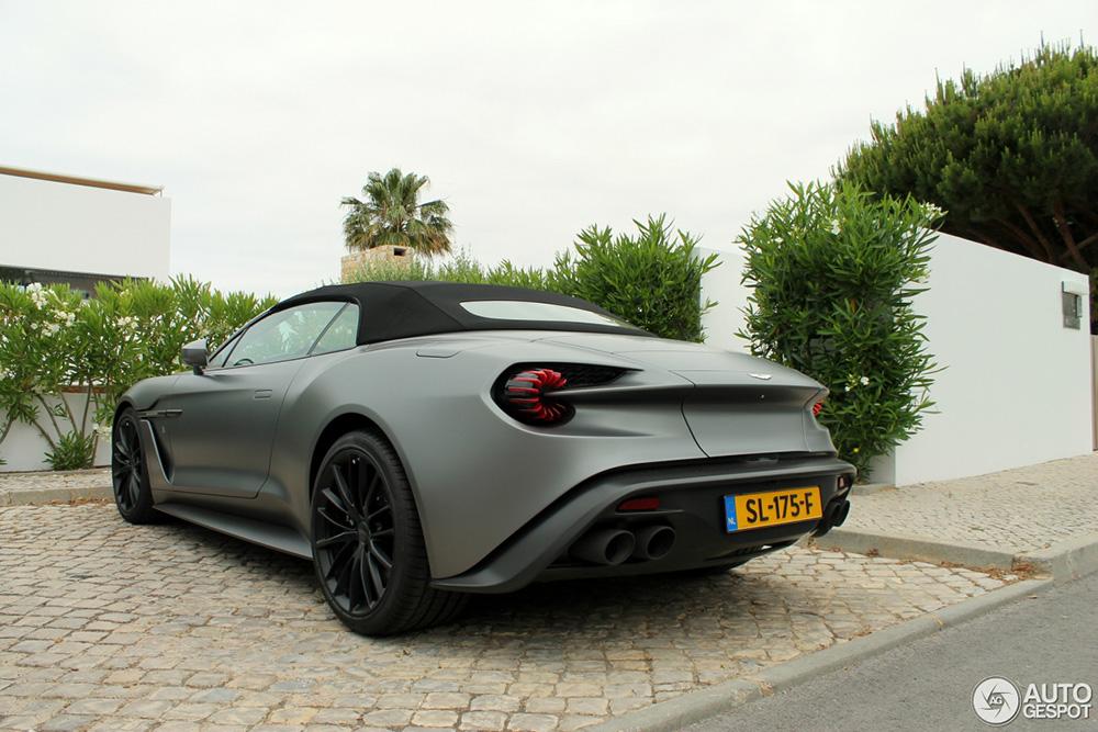 Nederlandse Aston Martin Vanquish Volante Zagato in Portugal gespot