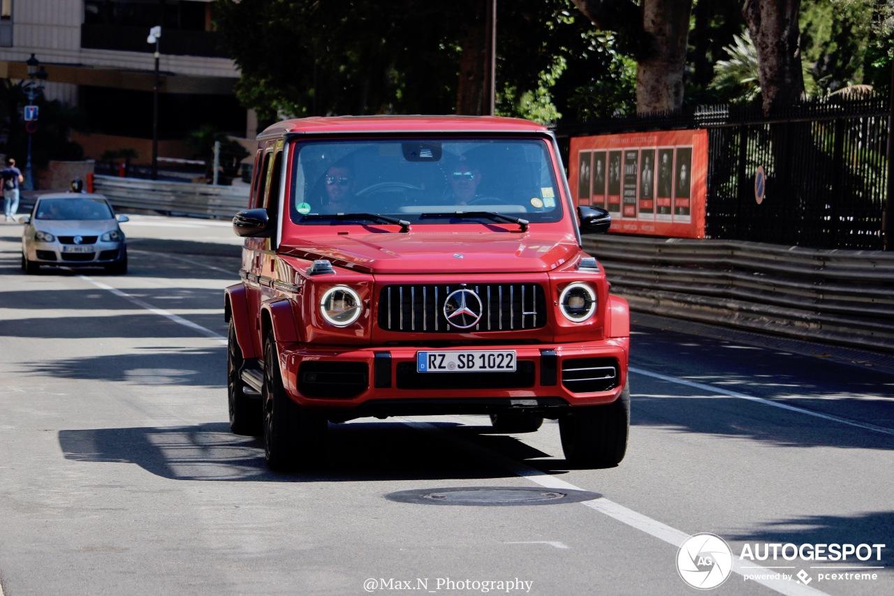 Rood staat prima op de Mercedes-AMG G 63