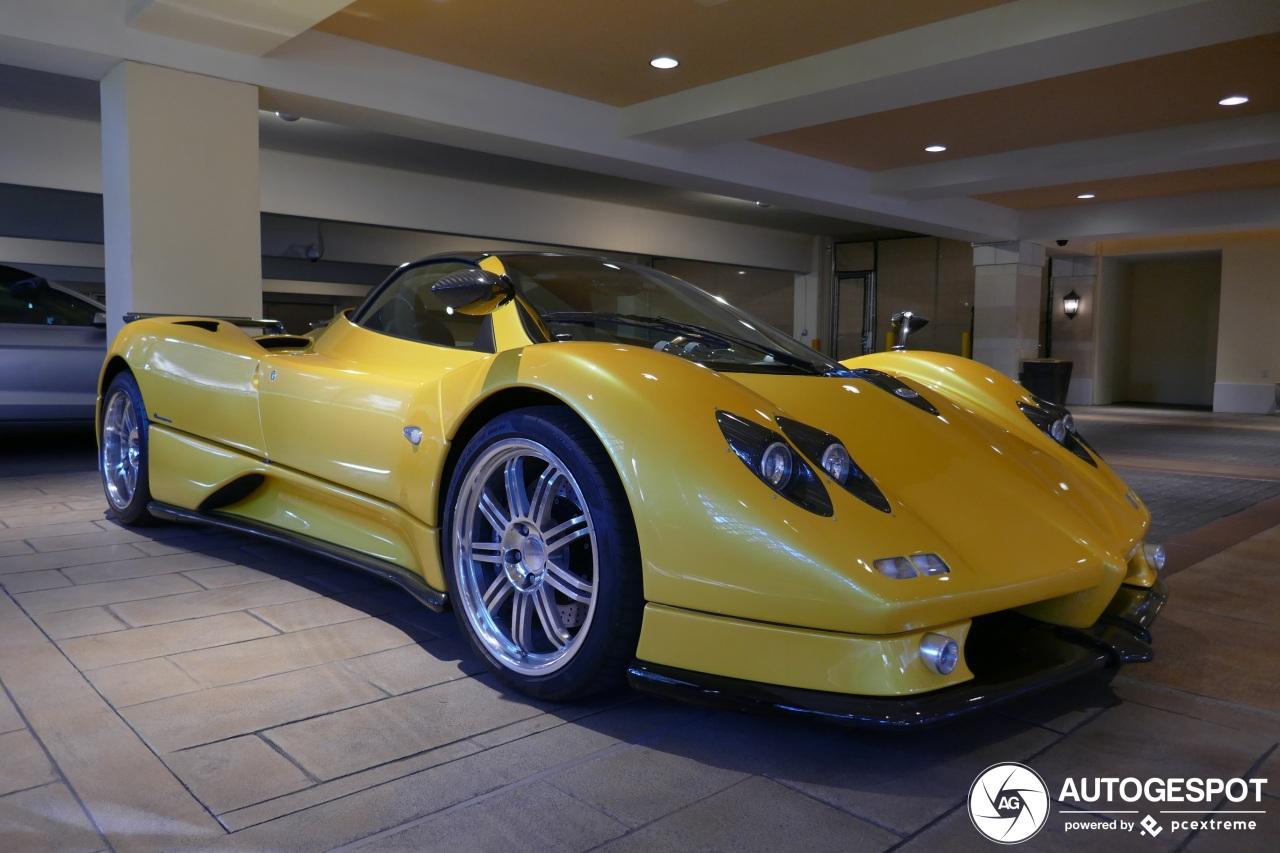 Gele Pagani Zonda C12-S Roadster is een lot uit de loterij