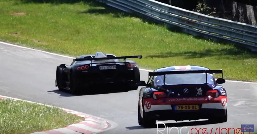 Gumpert Apollo wordt achtervolgd door BMW Z4 M Coupé