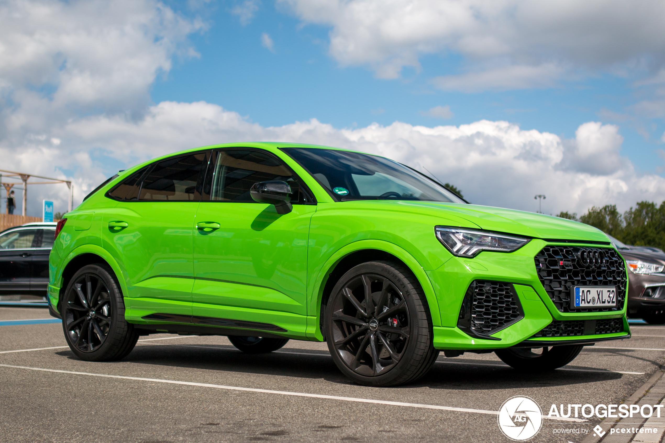 Groene RSQ3 Sportback is heel groen
