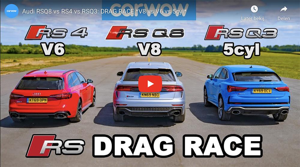 Filmpje: Audi trio neemt het tegen elkaar op