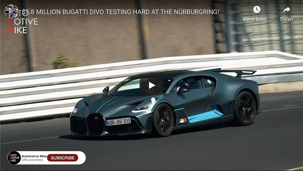 Filmpje: Bugatti Divo bestormt de Nürburgring!