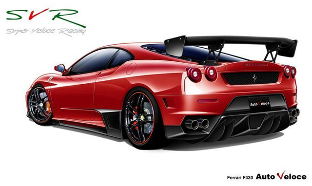 super veloce racing toont bodykit voor ferrari f430. Black Bedroom Furniture Sets. Home Design Ideas