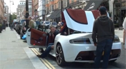 Spotted just a few days after the introduction: Aston Martin V12 Vantage Roadster