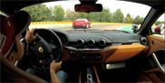 Comme des vauriens au volant d'une Ferrari F12berlinetta