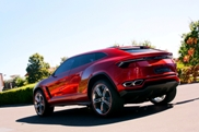 Lamborghini Urus in front of the Lamborghini factory