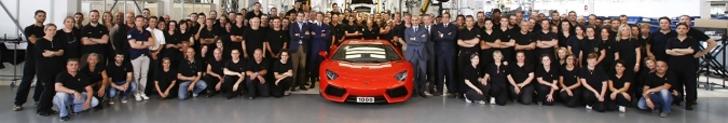 1000 Lamborghini Aventadors produced!