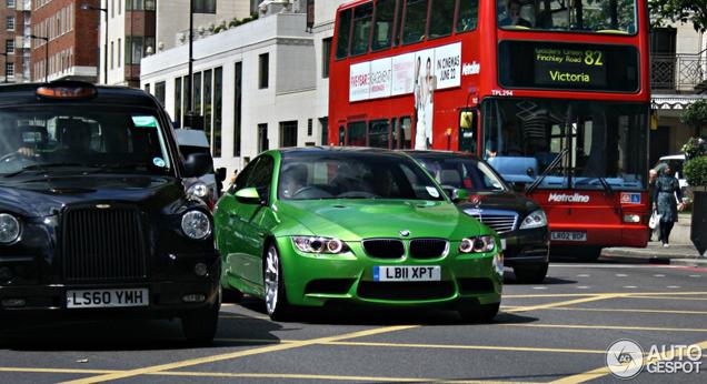 Gespot: BMW M3 E92 Coupé in de kleur Java Green