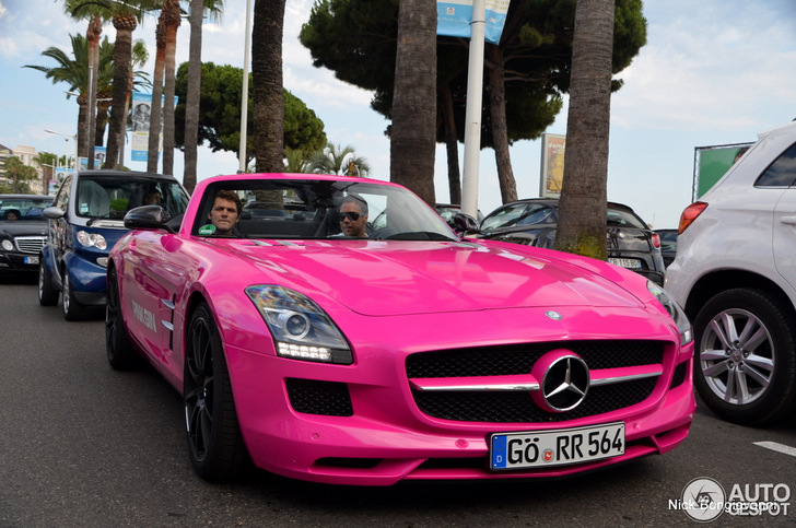 Second Car Of Pink Gin Spotted Mercedes Benz Sls Amg Roadster
