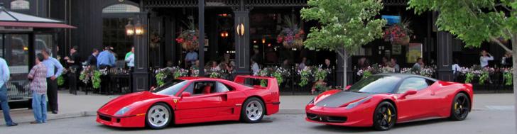 Ferrari F40 e 458 Italia juntos no Ohio!
