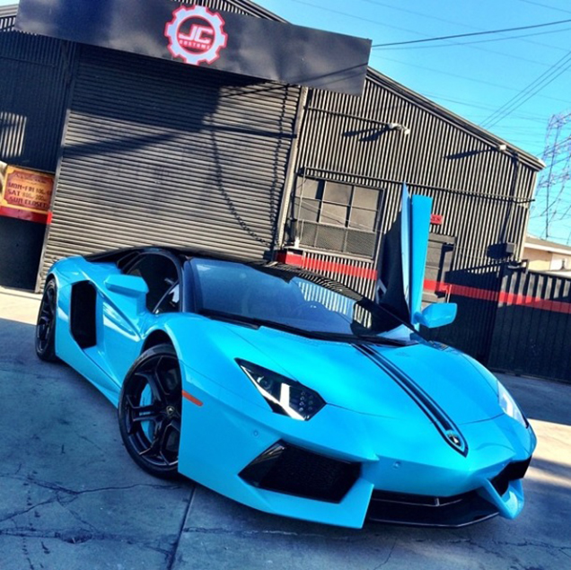 Camo Lamborghini Egoista: Chris Brown Gives His Aventador A New Look