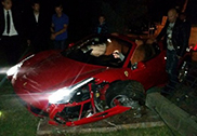 Ferrari 458 Spider accidentado en Jūrmala