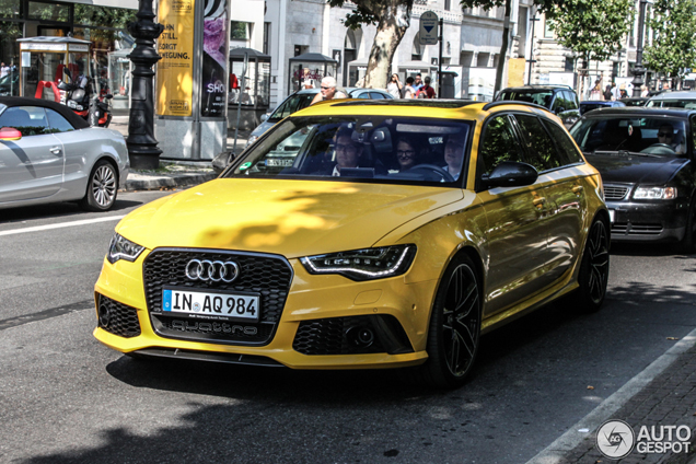 Audi Rs6 Avant Looks Great In This Yellow Colour
