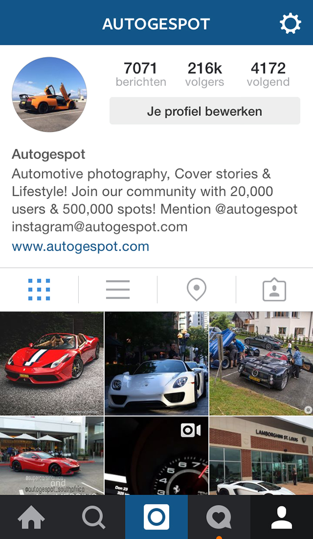 Autogespot is booming on Instagram