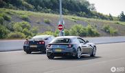 Dragracen bij het tolpoortje: Ferrari FF & Nissan GT-R R35