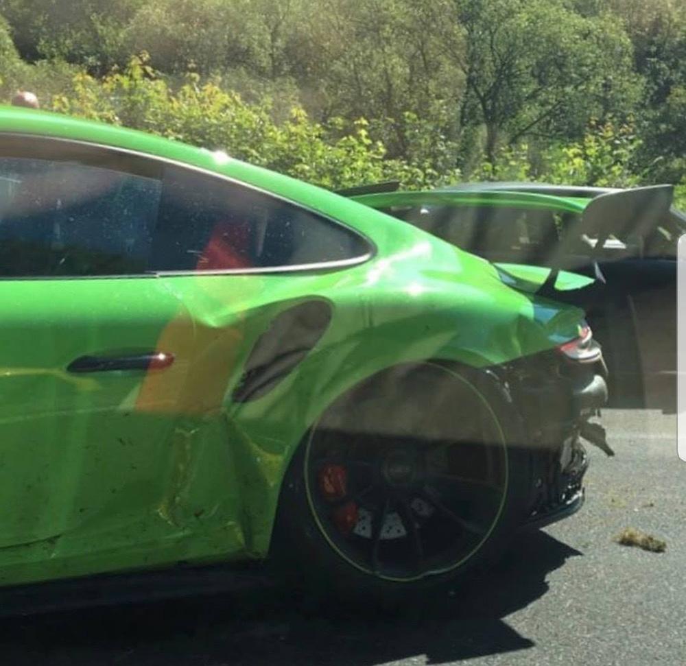 Porsche 991 GT3 MkII heeft geen lang leven op de Ring
