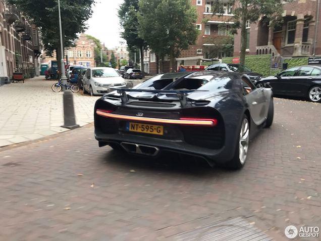 Spot van de dag: Bugatti Chiron in Amsterdam