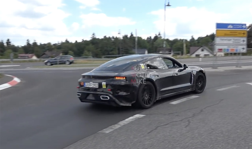 Porsche Taycan takes on the Nürburgring (silently)
