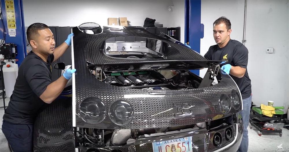Zo doe je een oliewissel bij de Bugatti Veyron 16.4