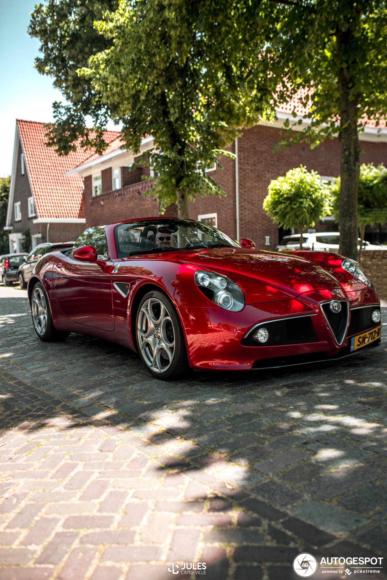 Alfa Romeo 8C Spider blijft tijdloos kunstwerk