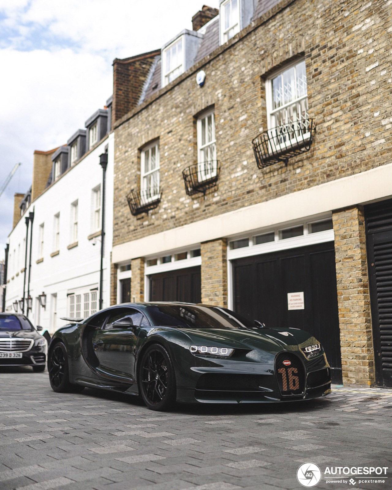 Bugatti Chiron Sport pronkt in Londen