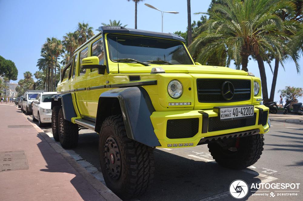Makkelijk voor naar het strand: Mercedes-Benz G 63 AMG 6x6