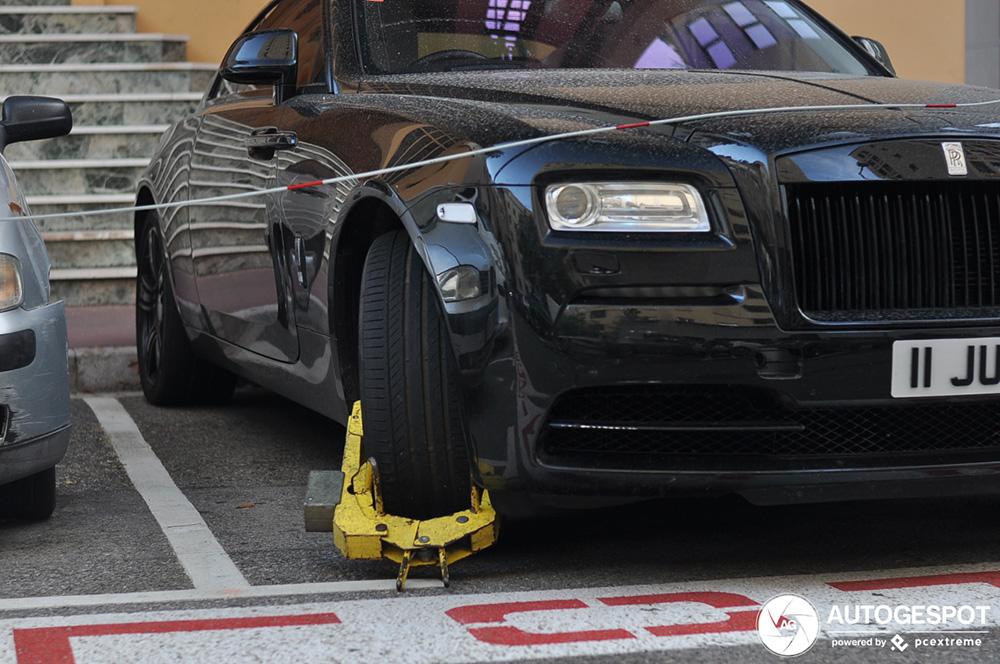 Rolls-Royce Wraith gaat nergens meer heen
